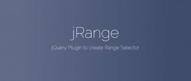jRange   jQuery Range Selector