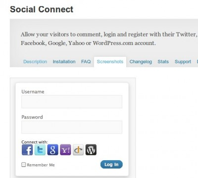 WordPress › Social Connect « WordPress Plugins